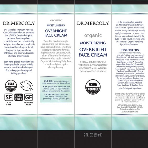 Dr Mercola Organic Overnight Cream